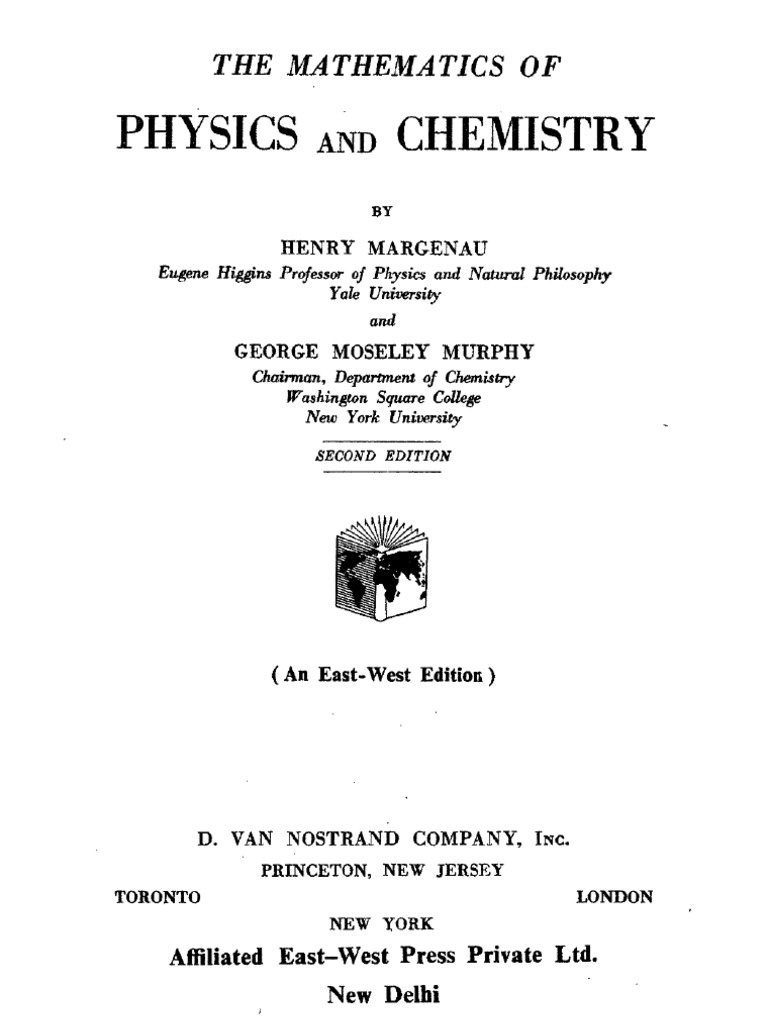 Mathematics of physics and chemistry margenau murphy fandeluxe Image collections