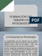 FORMACIÓN DEL TERAPEUTA INTEGRADOR