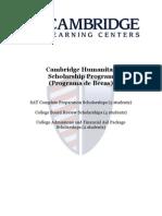 Cambridge Humanitas Scholarship Application.   Solicitud Beca Cambridge Humanitas.