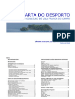 Carta Do Desporto de Vila Franca Do Campo