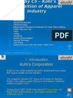Acquisition of Apparel Industry - Kohl's ( 2003-0601 )