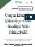 5. Nivel Primario y Secundario de Educacion de Adultos
