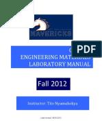 CE3161 Laboratory Manual-2012