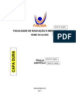 Modelo Padrão para TCC Pós Graduação