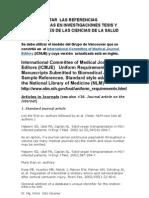 10 Como Redactar Las Referencias Bibliograficas en Tesis y Publicaciones Del Campo de La Salud 2011