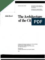 Aldo Rossi Architecture of the City