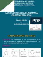 sustitución nucleofílica aromática halogenuros de arilo