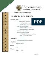 Monografia Del Despido Justo e Injusto