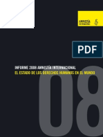informe - el estado de los derechos humanos en el mundo 2008 - amnistia internacional