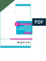 v - informe derechos humanos minorias sexuales chilenas 2006 - movilh