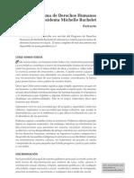 programa de derechos humanos de la presidenta michelle bachelet