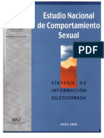 estudio nacional de comportamiento sexual - sintesis de informacion seleccionada - 2000 - minsal - chile
