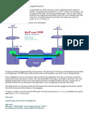 Transparent PPTP & EOIP | Ip Address | Port (Computer Networking)