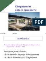 Elargissement pont en maçonnerie