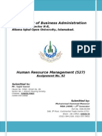 Assignment 2nd_527_Human Resource Management