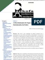 (a Discrimina347343o Do Negro Como Fato Estruturador Do Poder - SANKOFA)