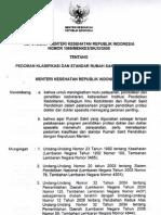 2008 KMK No. 1069-Menke-XI- Sttg Pedoman Klasifikasi Dan Standar RS Pendidikan