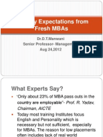 Industry Expectations From Fresh MBAs -R