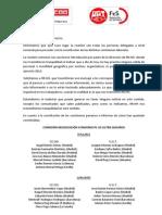 NOTA INFORMATIVA CONSTITUCIÓN COMISIONES