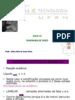 Aula 13 Diagramas de Fases