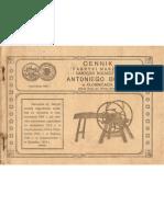 Cennik Fabryki maszyn i narzędzi rolniczych Antoniego Bugaj w Kłomnicach .Dokument z 1914 roku.