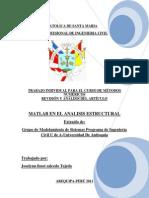 Matlab en El Analisis Estructural