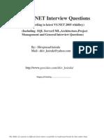 Dot Net Interview question by Shivprasad Koirala