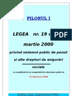 Legea 19/2000 privind sistemul public de pensii si alte drepturi de asigurari sociale