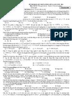 Đề thi thử ĐH - Trường THPT chuyên ĐH Vinh - môn Vật lý - Lần 4 - 2011 - có đáp án- truonghocso.com