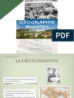 Manuel Histoire Géographie Education civique 3° - Des colonies aux Etats indépendants