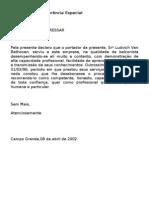 Carta de Referência (especial)