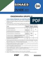 Enade 2011 Prova Engenharia Grupo IV