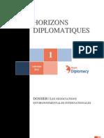 Revue Horizons diplomatiques n°1 - Automne 2012