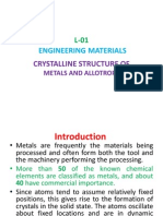 Lec1-Crystalline Structure of Metals and Allotropy