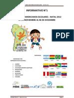 Informativo General - Juegos Sudamericanos Escolares Natal 2012