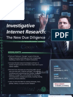 Investigative Internet Research-The New Due Diligence Houston Dallas Texas MCLE