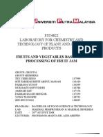 LAB 6 - Processing of Fruit Jam