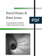 David Hume &  Hans Jonas. Zwei philosophische Gottesbilder. Vergleich, Kritik und Erweiterung.