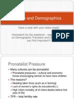 Fertility and Demographics