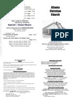 November 25, 2012 Church Bulletin
