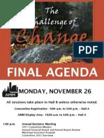 Final Agenda