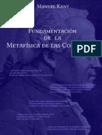 Fundamentacion de La Metafisica. Immanuel Kant