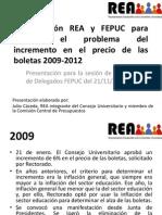 Coordinación REA y FEPUC - Boletas