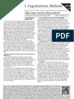 Earth Negotiations Bulletin – COP18 curtain raiser