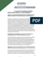 Investment Volumen Retail Handelsimmobilien 2008