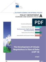 The Development of Climate Negotiations in View of Doha (COP 18)