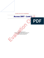 Access 2007 Level 1