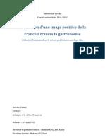 Memoire_gastronomie Et Identite Francaises