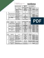 Rol de Exámenes de Aplazados, Turismo y Hotelería FCCTP | 2012-II