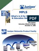 Juniper MPLS for R&E Nets